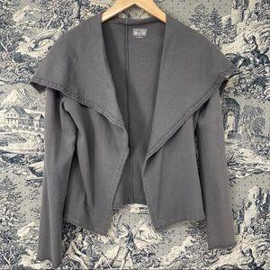 Converse gray sailor collar open front jacket